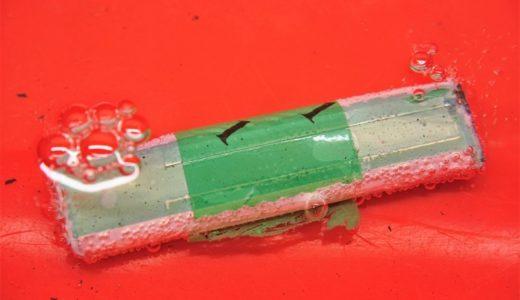 【処分】マイクロドローンのリポバッテリーを分解してみた。